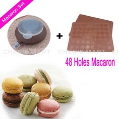 Bakeware Set Silicone Large Size Macaron 48 Hole Mat Piping Pot special baking cake tools 4 piping Squeezing mouth