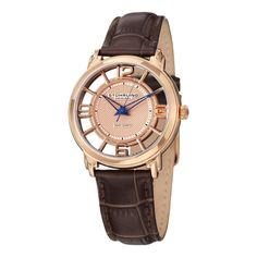 Stuhrling Original Women's GP12624 Swiss Quartz Skeleton Watch * Click on the watch for additional details.