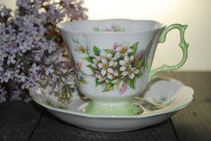 ROYAL ALBERT Orange Blossom Vintage Tea Cup and by HoneyandBumble, $24.00