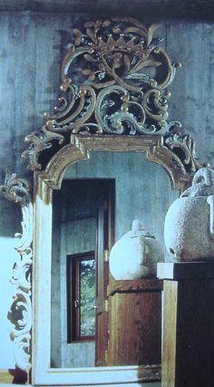 A huge Italian Baroque mirror,.