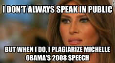 Melanie Trump creates that crazy moment when Republicans cheered the words of Michelle Obama!!