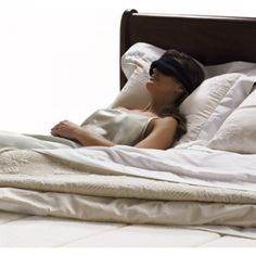 The SleepMask by Tempur-Pedic® is filled with pressure-relieving TEMPUR® material conforming exactly to the shape of your face to eliminate any light that can disturb your sleep.