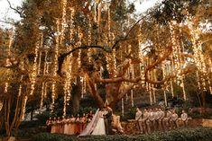 This Calamigos Ranch Wedding Positively Glows with Fairy Lights Fairy Lights Wedding, Tree Wedding, Wedding Ceremony, Twinkle Lights Wedding, Light Wedding, Wedding Poses, Party Wedding, Wedding Bride, Wedding Dresses
