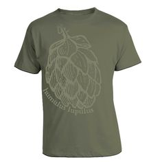 Humulus Lupulus - Glow in the Dark Hops Craft Beer Geek T-Shirt.   Perfect homebrew gift for the brewer that has everything.