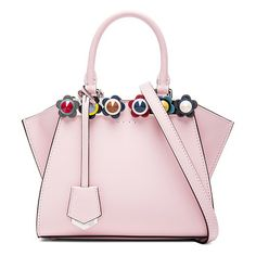 1f268b64eae5 Floral Studded 3Jours Mini by Fendi. Calfskin leather with pink leather  lining and silver-