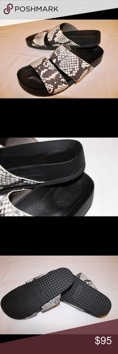 31a2a1a57b26c Shop Women s Vince Black White size 7 Sandals at a discounted price at  Poshmark.