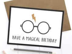Excited to share this item from my #etsy shop: Harry Potter, Harry Potter Card, Harry Potter Birthday Card, Birthday Card, Harry Potter Gift, Hogwarts, Gryffindor, Slytherin