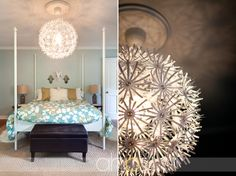 Bedroom Chandelier - via Young House Love / Andrea Hubbell Photography. Love this!
