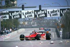Gilles Villeneuve GP Long Beach 1979 Ferrari Scuderia, Ferrari F1, Gilles Villeneuve, Love Car, Indy Cars, Interesting History, Car And Driver, Formula One, Long Beach