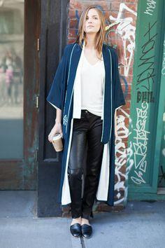 Kimono - Navy Silk