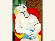 Pablo Picasso The Dream Pablo Picasso, Kunst Picasso, Art Picasso, Picasso Paintings, Most Famous Paintings, Your Paintings, Picasso The Dream, Most Expensive Painting, 5d Diamond Painting
