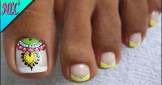 DECORACIÓN DE UÑAS PARA PIES MANDALAS Y FRANCÉS♥ – MANDALAS NAIL ART – FRENCH NAIL ART – NLC | Alexey.es Foot Pedicure, Pedicure Nail Art, Pedicure Designs, Toe Nail Designs, Dope Nails, Swag Nails, Nail Supply, Cute Nail Art, Stylish Nails