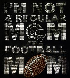 Rhinestone Football Mom TShirt Bling Shirt by DesignsbyDaffy, $23.95