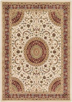 Ivory Mashad Design Area Rug