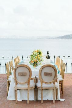 Lyford House surrounded by beautiful views of the San Fransisco Bay. See this gorgeous shoot by Emily Merrill Wedding Photography @intimateweddings.com #tablesettings #tabledecor #weddingstyledshoot