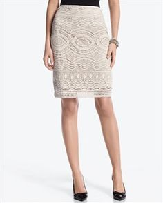 @Chloe Conspiracy had a lace skirt paired with a silky navy blouse and wide cognac belt. Love!