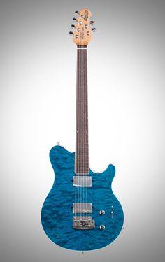 Ernie Ball Music Man BFR Axis Super Sport Electric Guitar Trans Blue finish