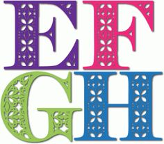 Welcome to the Silhouette Design Store, your source for craft machine cut files, fonts, SVGs, and other digital content for use with the Silhouette CAMEO® and other electronic cutting machines. Scrapbook Letters, Scrapbook Paper Crafts, Scrapbooking, Silhouette Cameo Projects, Silhouette Design, Letter Stencils, Stencil Font, Alphabet And Numbers, Alphabet Letters