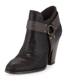 Steph Harness-Buckle Bootie, Black by Donald J Pliner at Neiman Marcus Last Call.
