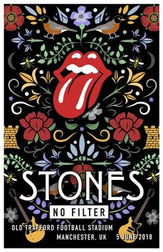 Rolling Stones | UNOFFICIAL POSTER | MANCHESTER UK concept + illustration...