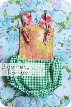 Bloomer to Romper DIY by Smile And Wave, via Flickr