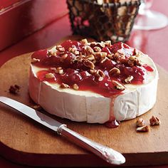 Company's Coming...Cherry-Pecan Brie is ready in 10 minutes with only 5 ingredients!