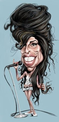 Amy Whinehouse- illustration of Mick Hollinworth