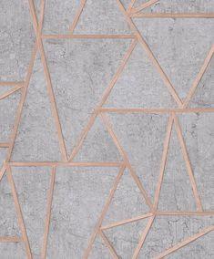I Love Wallpaper Metro Geometric Apex Wallpaper Grey, Rose Gold - Wallpaper from I Love Wallpaper UK Back Wallpaper, Powder Room Wallpaper, Rose Gold Wallpaper, Cheap Wallpaper, Textured Wallpaper, Pattern Wallpaper, Contemporary Wallpaper, Geometric Wallpaper Texture, Latest Wallpaper