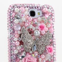 """Style # 403 This Bling case can be handcrafted for Samsung Galaxy S3, S4, Note 2. The current price is $79.95 (Enter discount code: """"facebook102"""" for an additional 10% off during checkout)"""