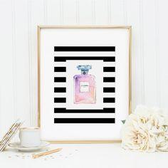 Perfume Bottle, Parfum Bottle, Makeup Print, Beauty Room Decor, Vanity Art…