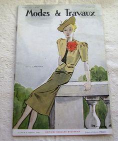 modes & travaux magazine vintage   Vintage Magazine French 1930's Modes et Travaux no. 445 by Mrsdepew, $ ...
