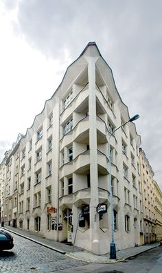 {A} cubistic house at Prague by Josef Chochol, 1913
