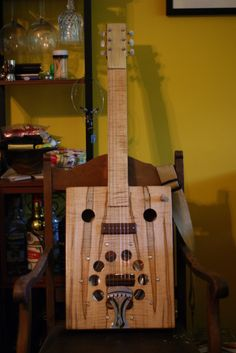 6 string cigar box style squareneck lap resonator by www.hcw3.com