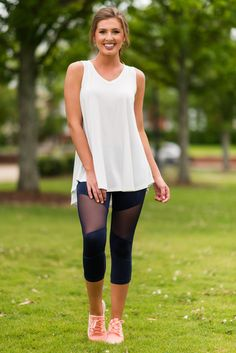 Love Purely Tank, White - The Mint Julep Boutique