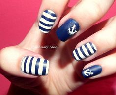 #nautical #nails