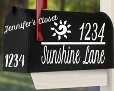 Mailbox Decal Address with Last Name, Mailbox Address, Mailbox Lettering, Mailbox  Stickers, Mailbox Monogram, Mailbox Vinyl Decal