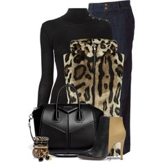 A fashion look from November 2014 featuring Balmain sweaters, Armani Jeans vests and Club Monaco ankle booties. Browse and shop related looks.
