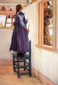 Carl Larson, another great illustrator He painted both himself and his wife into this one. Love.