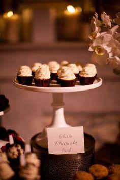 style me pretty - real wedding - usa - california - los angeles wedding - vibiana - food  drink - food - dessert - cupcakes food-dessert-cupcakes