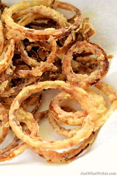Onion Straws - Gluten Free, Dairy Free - Just What We Eat