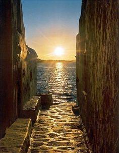 sunrise, greece