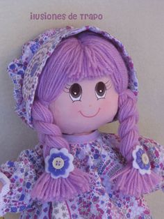 Items similar to Rag doll, rag dolls, personalized doll on Etsy Doll Clothes Patterns, Doll Patterns, Doll Face Paint, My Child Doll, Bathroom Crafts, Doll Eyes, Waldorf Dolls, Dollhouse Dolls, Doll Hair