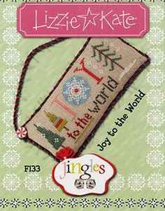 Lizzie Kate Flip-It Jingles - Joy to the World F133 - Christmas Cross Stitch Pattern Chart with button on Etsy, $4.50