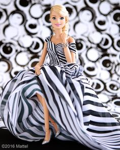 Perfectly polished in prints on prints! ⚪️ #barbie #barbiestyle