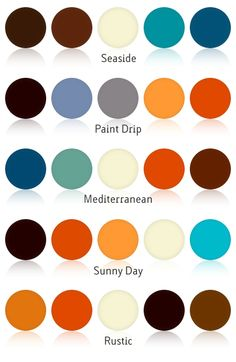 Really organic color combinations. Good to know when putting outfits together or decorating a place