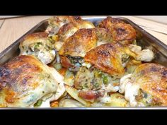 Töltött csirkecomb gazdagon - YouTube Cake Recipes, Turkey, Make It Yourself, Chicken, Youtube, Food, Beverages, Easy Cake Recipes, Turkey Country