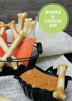 This creamy party appetizer is a fun and easy way to get you and the kiddos in the Halloween spirit. Transform your simple bread and cheese dip snack recipe into the perfect spooky finger food that your kids and their friends can munch on while they play.