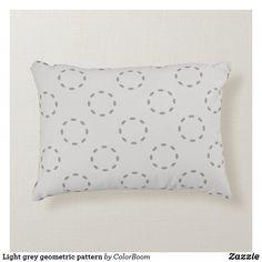 Light grey geometric pattern accent pillow Soft Pillows, Accent Pillows, Grey Home Decor, Grey Cushions, Soft Fabrics, Art Pieces, Texture, Pattern, Color