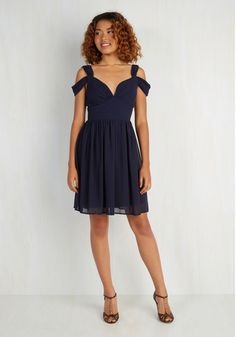 Bonne Jovial Dress in Navy From the Plus Size Fashion Community at www.VintageandCurvy.com