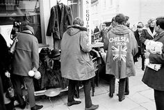 """theswinginsixties:  Mods at the Portobello Road Market, London, 1964, Photo by Philip Townsend.  """